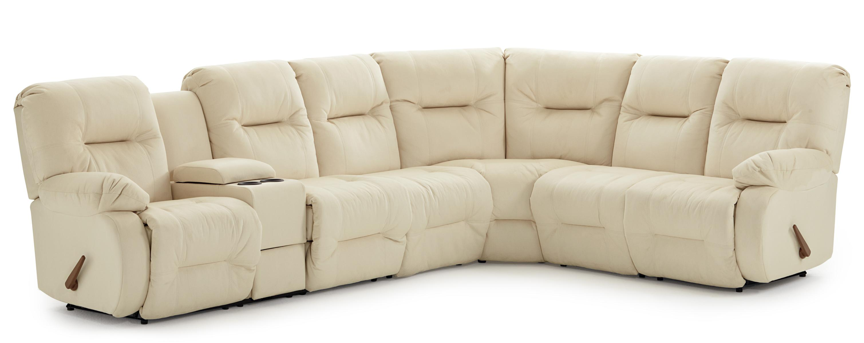 Brinley 2 Power Reclining Sectional Sofa by Best Home Furnishings at Best Home Furnishings