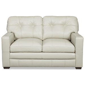 Contemporary Tufted Loveseat