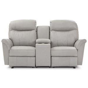 Rocking Reclining Console Loveseat