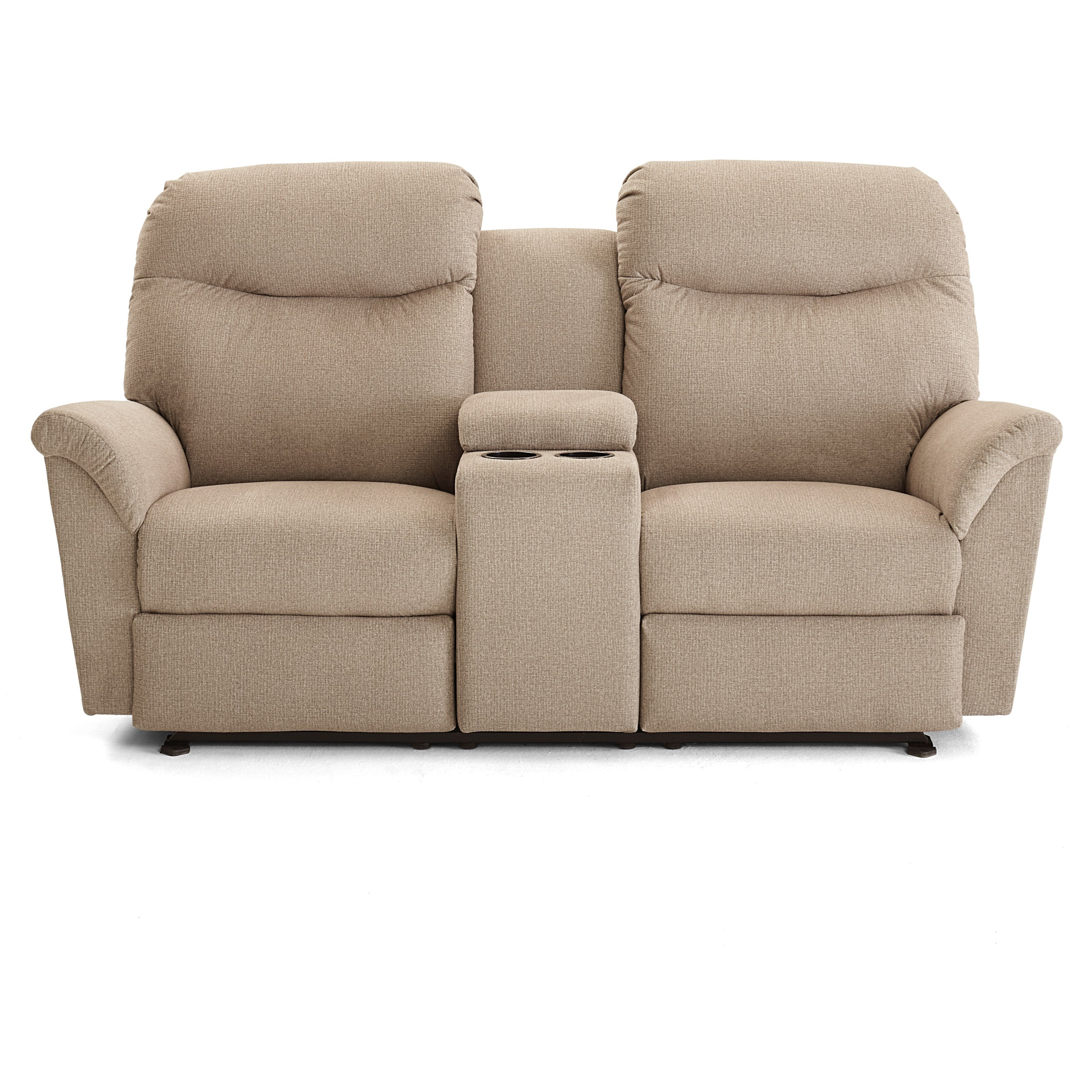 Caitlin Power Rocking Reclining Console Loveseat by Best Home Furnishings at Best Home Furnishings
