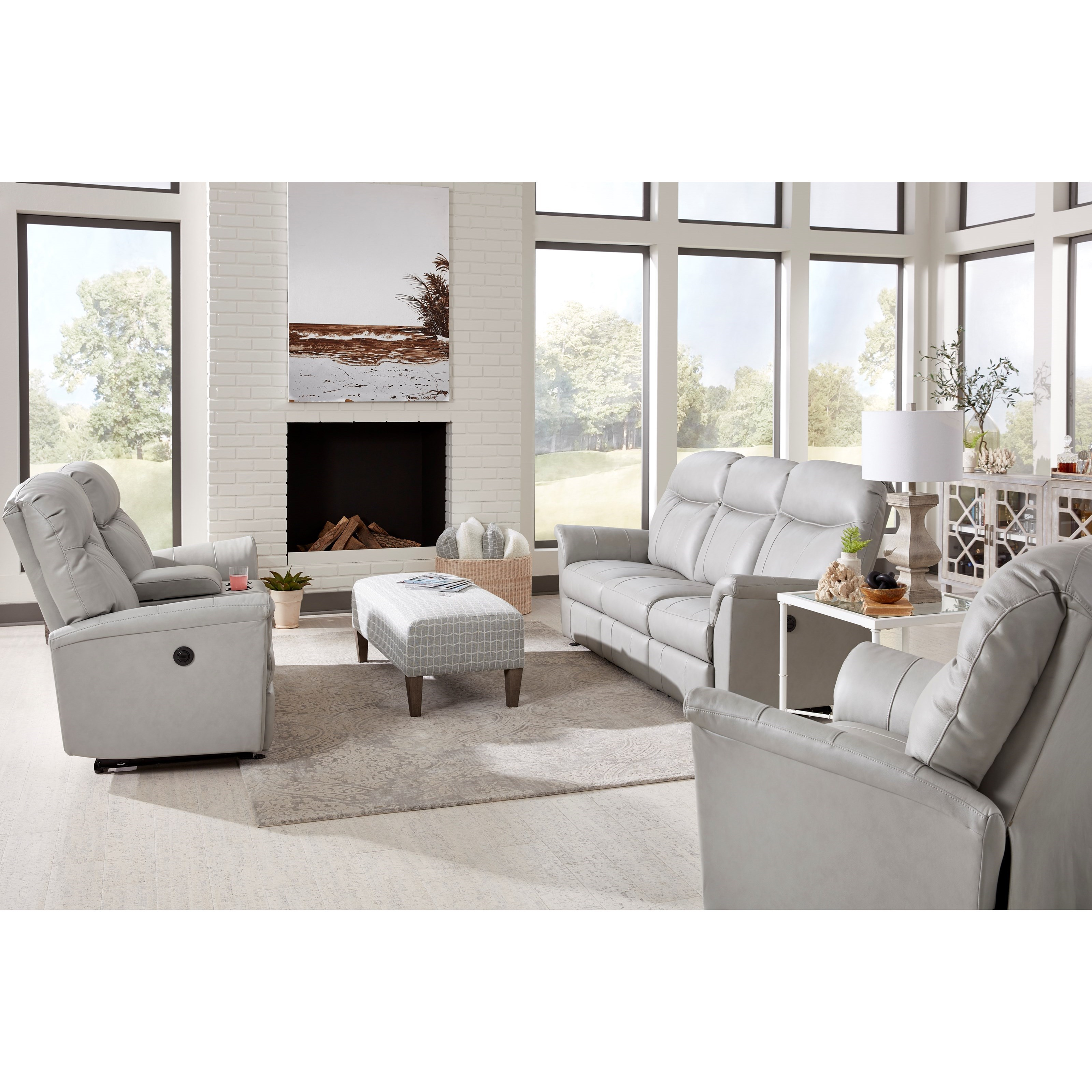 Caitlin Power Reclining Living Room Group by Best Home Furnishings at Zak's Home