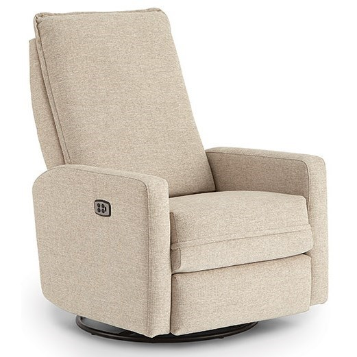 Calli Swivel Glide Recliner w/ Inside Handle by Best Home Furnishings at Walker's Furniture