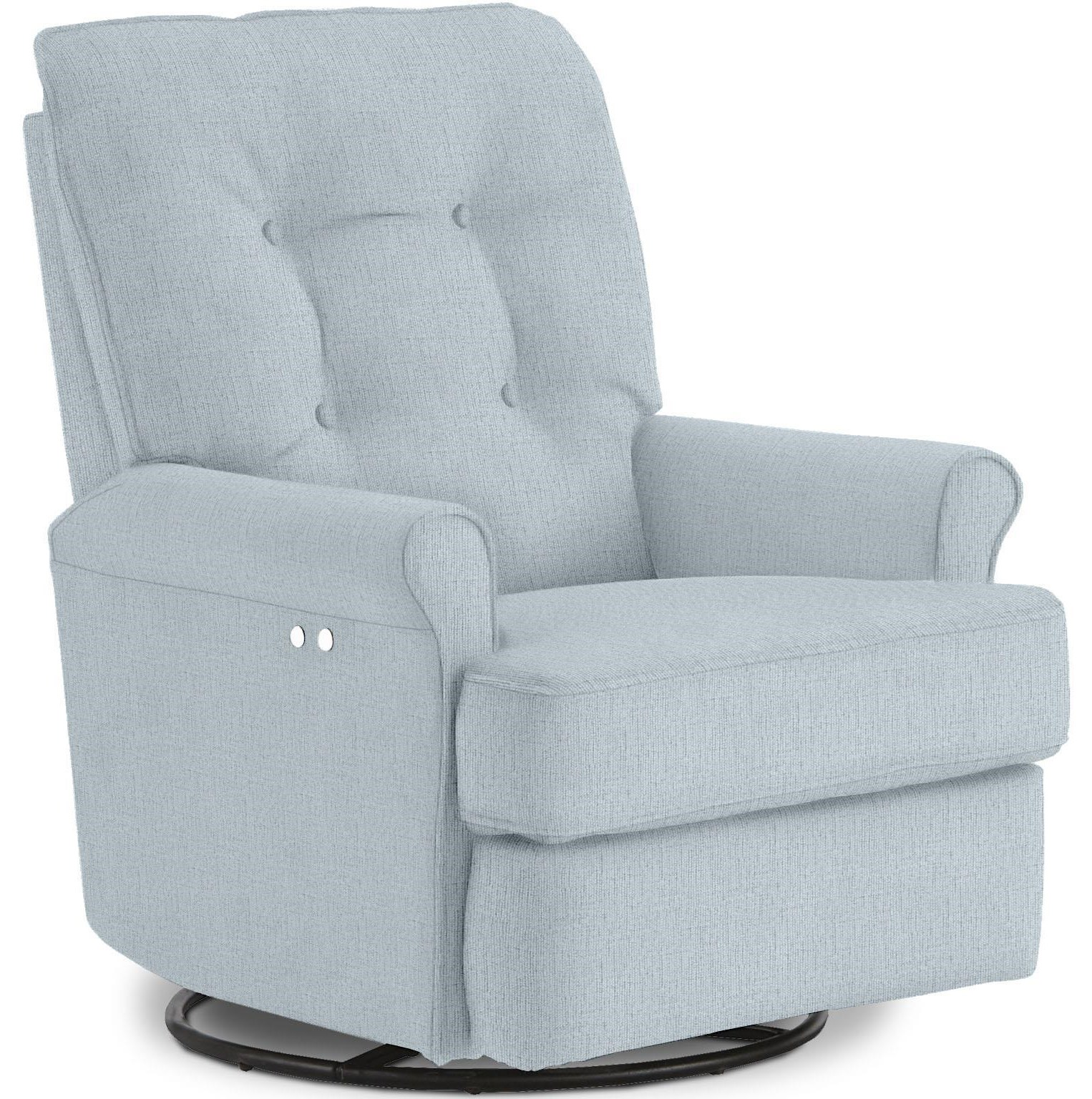 Amy Swivel Gliding Recliner by Best Home Furnishings at Crowley Furniture & Mattress