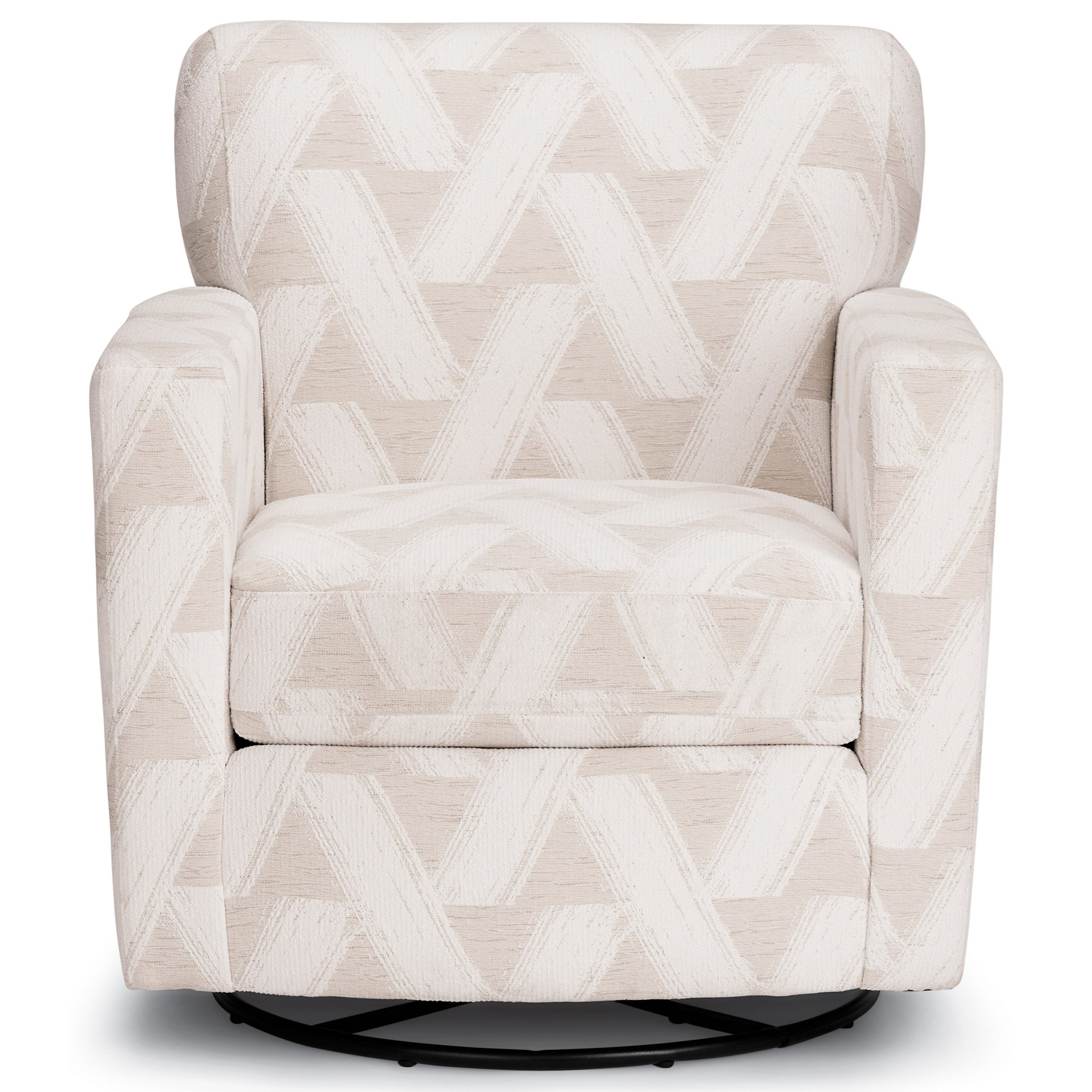 Caroly Swivel Barrel Chair by Best Home Furnishings at Best Home Furnishings