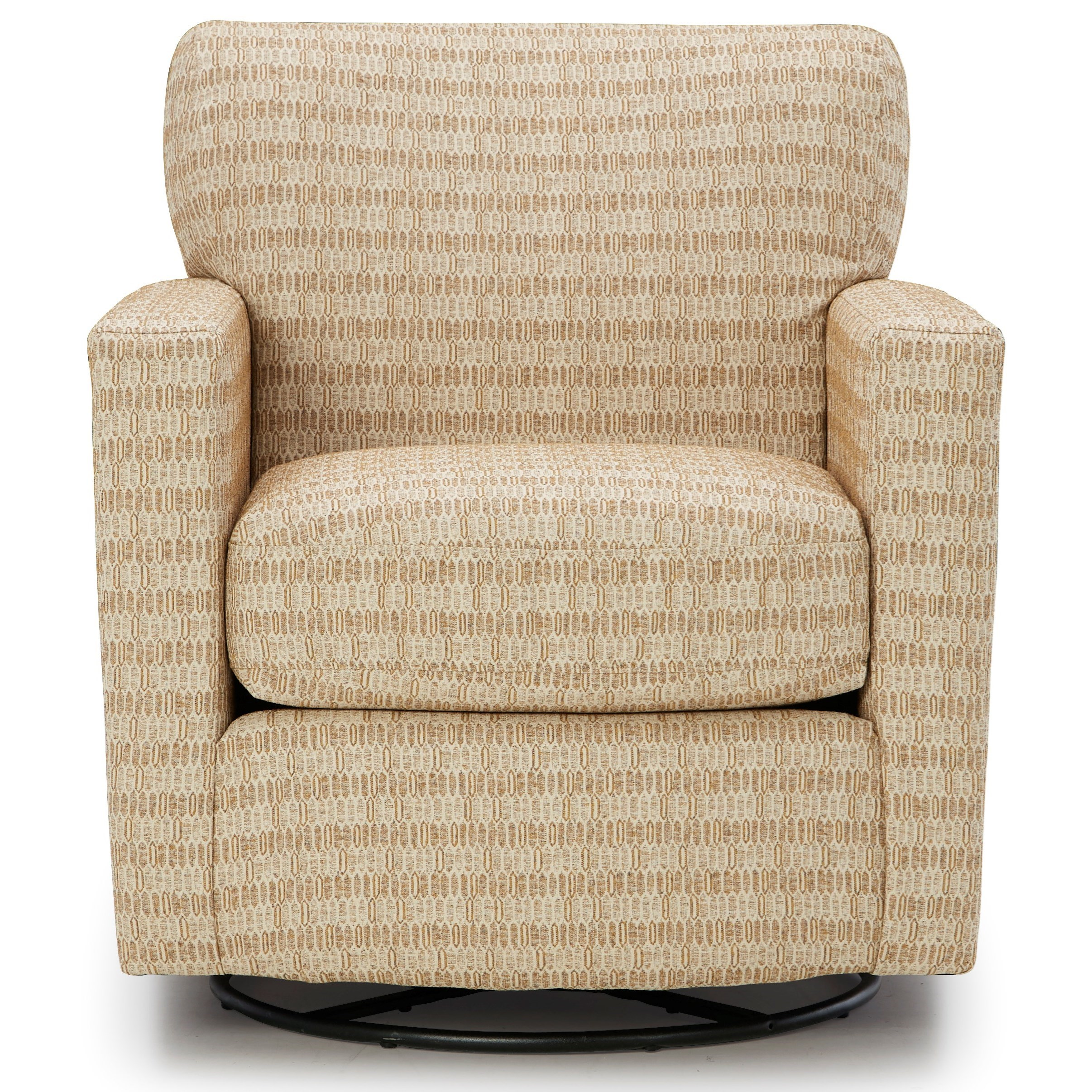 Caroly Swivel Barrel Chair by Best Home Furnishings at Baer's Furniture