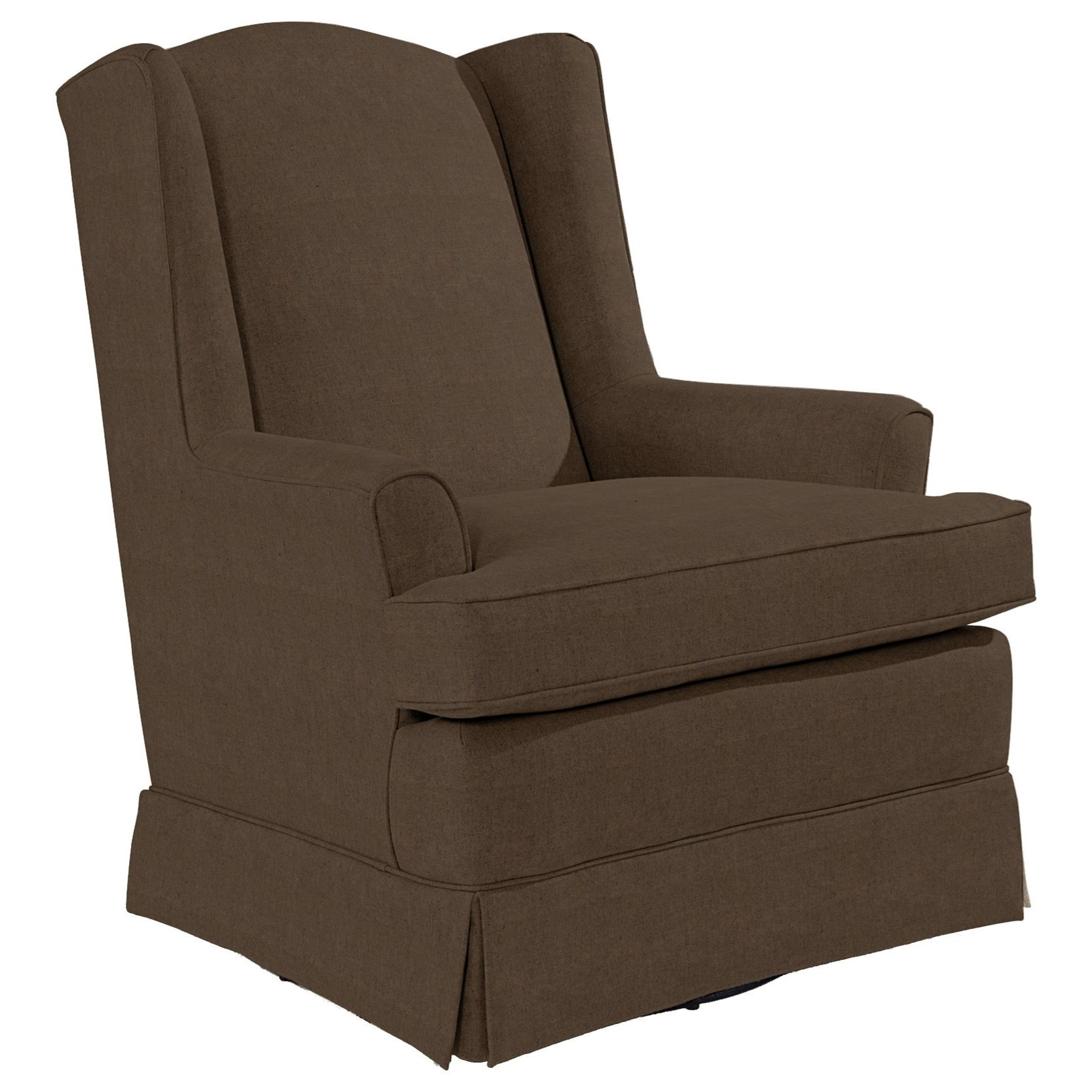 Swivel Glide Chairs Natasha Swivel Glider by Bravo Furniture at Bennett's Furniture and Mattresses