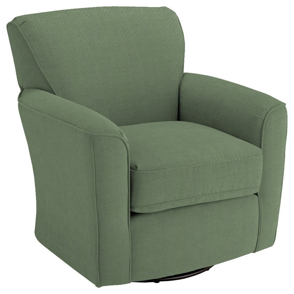 Swivel Glide Chairs Kaylee Swivel Barrel Chair by Best Home Furnishings at Pilgrim Furniture City