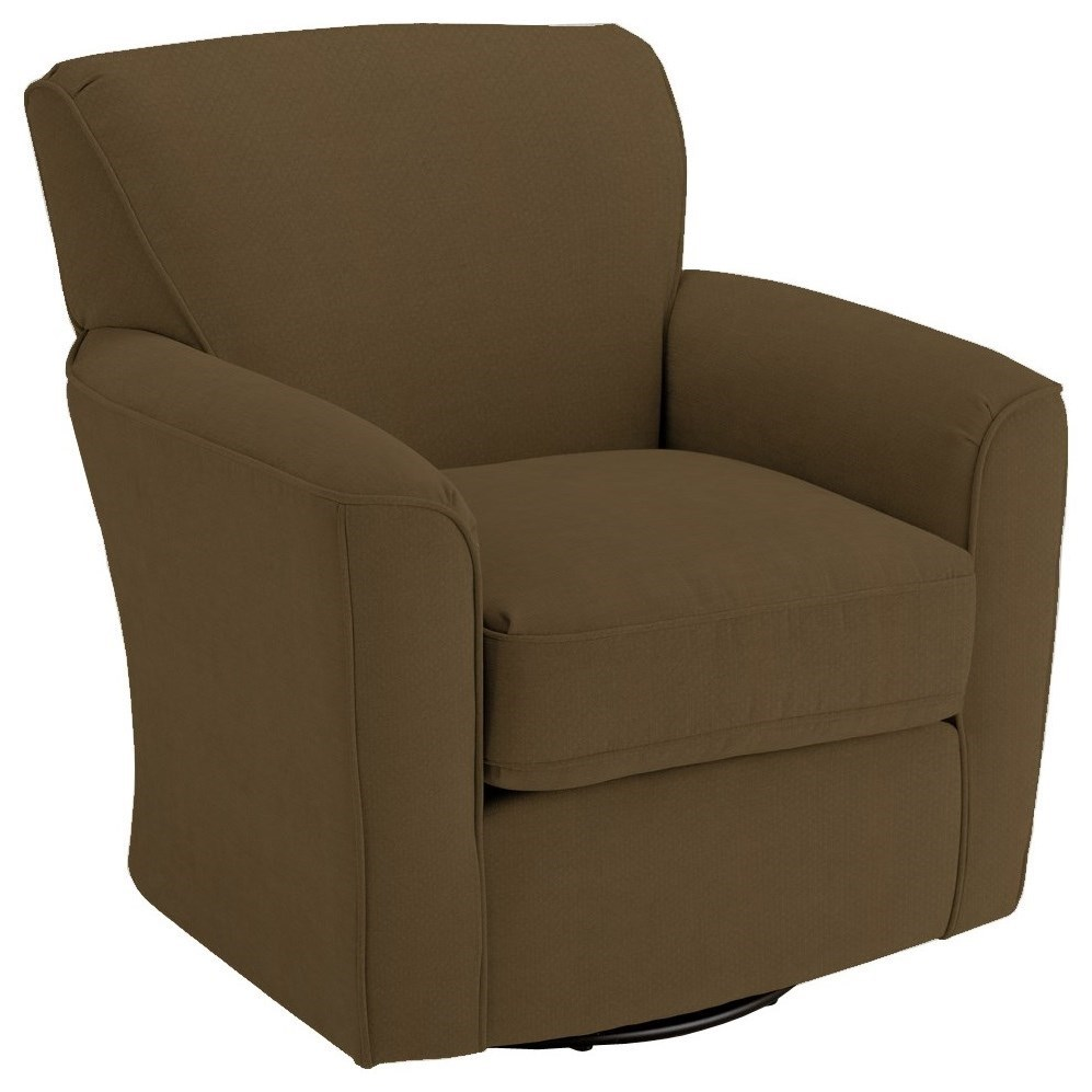 Swivel Glide Chairs Kaylee Swivel Barrel Chair by Bravo Furniture at Bennett's Furniture and Mattresses