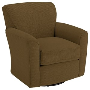 Best Home Furnishings Chairs - Swivel Glide Kaylee Swivel Barrel Chair