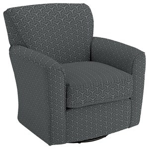Kaylee Swivel Barrel Arm Chair