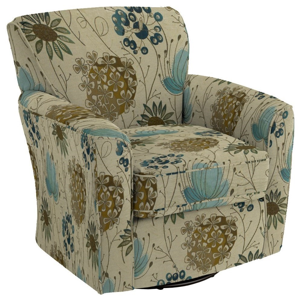 Swivel Glide Chairs Kaylee Swivel Barrel Chair by Best Home Furnishings at Lucas Furniture & Mattress