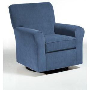 Morris Home Furnishings Chairs - Swivel Glide Hagen Swivel Glide