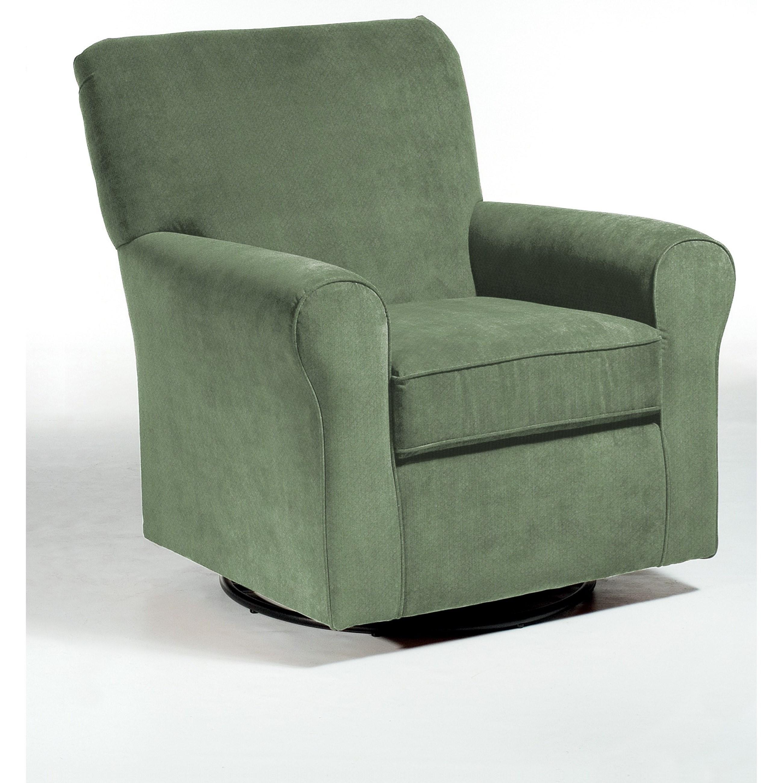 Swivel Glide Chairs Hagen Swivel Glide by Best Home Furnishings at Fashion Furniture