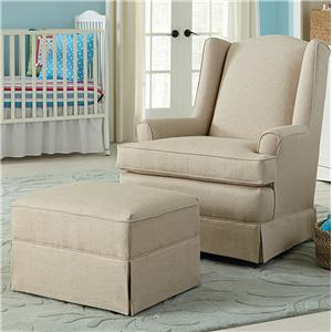 Best Home Furnishings Chairs - Swivel Glide Natasha Swivel Glider and Gliding Ottoman