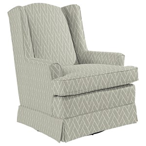 Natasha Swivel Glider with Wing Back and Skirt