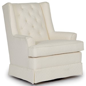 Nikole Skirted Swivel Glider