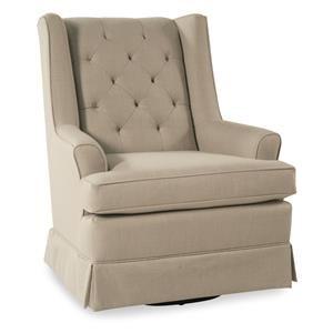 Skirted Swivel Glide Chair