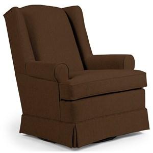 Roni Skirted Swivel Glider Chair