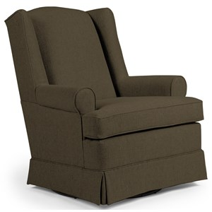 Roni Skirted Swivel Glider Chair