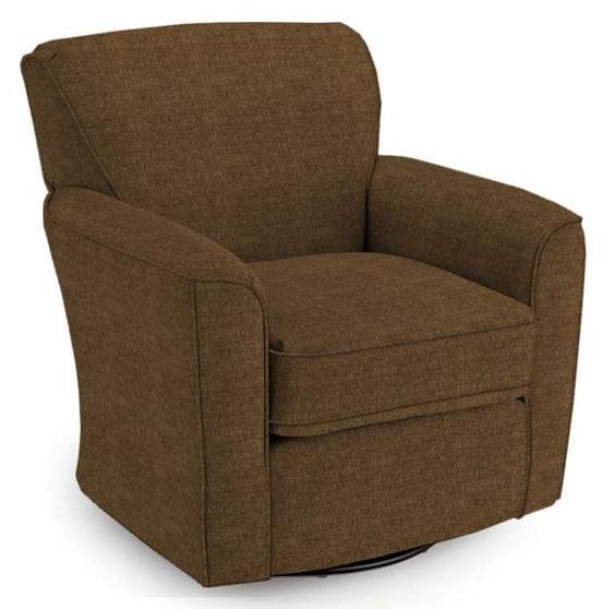 Swivel Glide Chairs Kaylee Swivel Barrel Chair by Best Home Furnishings at Godby Home Furnishings