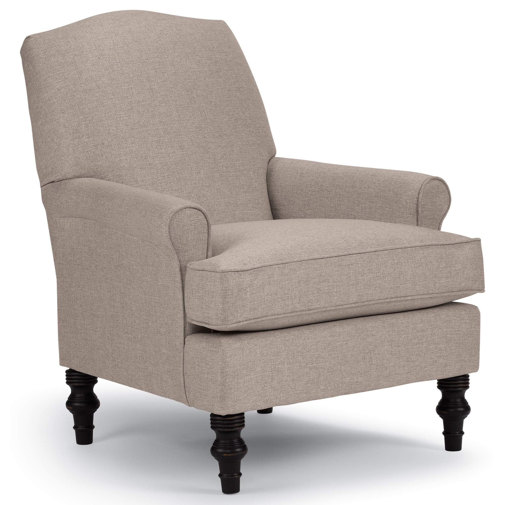 Club Chairs Camel-Back Club Chair by Best Home Furnishings at Lapeer Furniture & Mattress Center