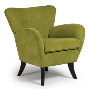 Elnora Contemporary Club Chair with Flared Back
