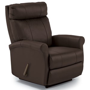 Swivel Rocking Recliner With Rolled Arms