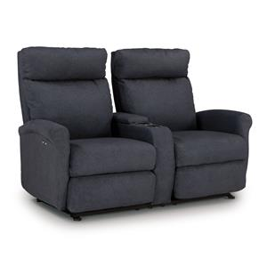 Best Home Furnishings Codie Power Rocking Reclining Loveseat w/ Console