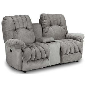 Power Reclining Space Saver Loveseat with Cupholder Storage Console and Power Tilt Headrest