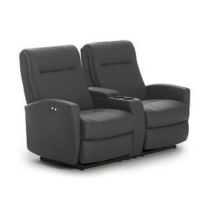 Best Home Furnishings Costilla Space Saver Reclining Loveseat w/ Console