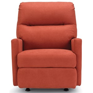Casual Swivel Glider Recliner with Track Arms