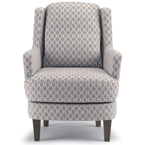 Transitional Wing Back Swivel Barrel Chair