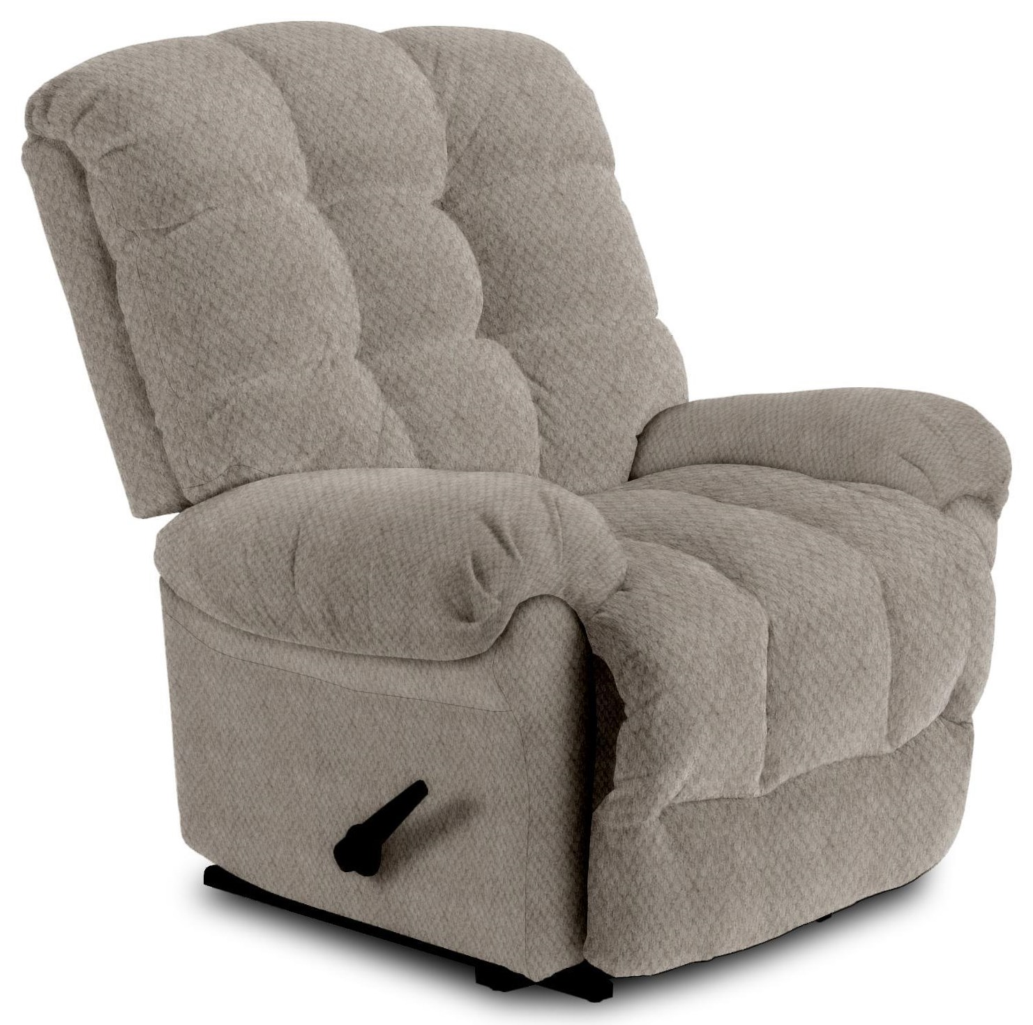 Denver Layflat Rocking Recliner by Best Home Furnishings at Crowley Furniture & Mattress