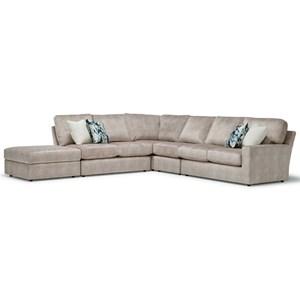 5-Seat Sectional Sofa w/ LAF Ottoman Piece