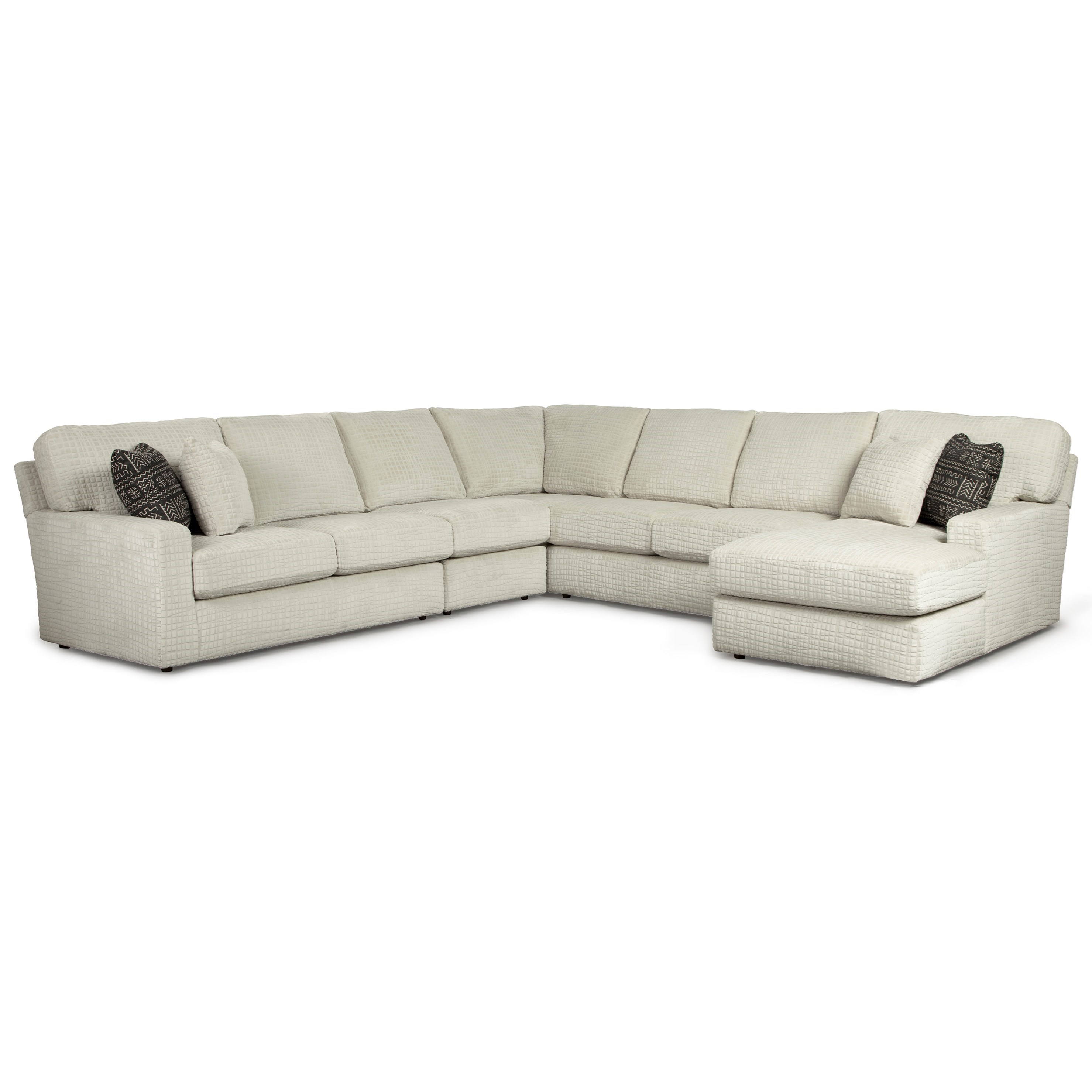 Dovely 5 Pc Sectional Sofa w/ RAF Chaise by Best Home Furnishings at Best Home Furnishings