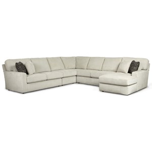 Casual 5 Piece Sectional Sofa with Built-In USB Port and RAF Chaise