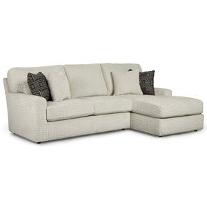 Casual 2 Piece Sectional Sofa with Built-In USB Port and RAF Chaise