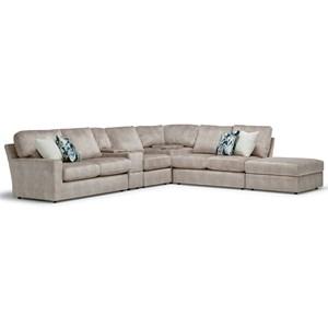 5-Seat Sofa w/ Wireless Charge & RAF Ottoman