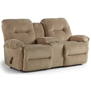Power Space Saver Reclining Loveseat with Cupholder Storage Console
