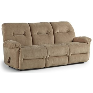 Reclining Sofa with Rolled Arms