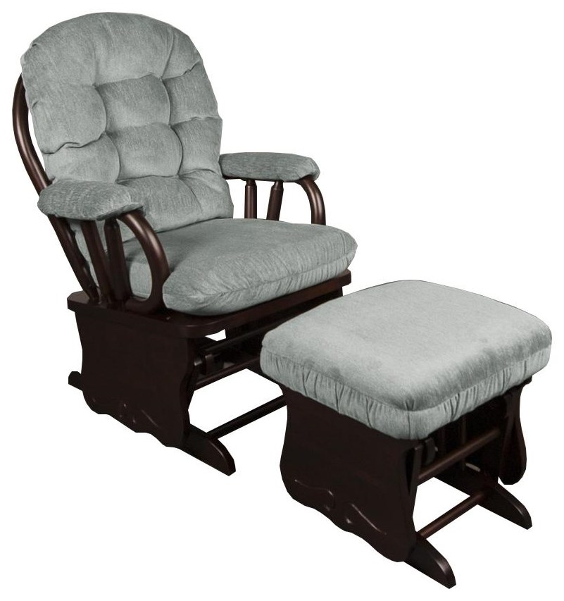 Emeline Emeline Glider Rocker with Ottoman by Best Home Furnishings at Morris Home
