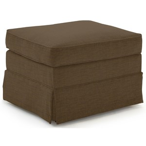 Customizable Ottoman with Skirted Base