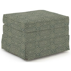 <b>Customizable</b> Ottoman with Skirted Base