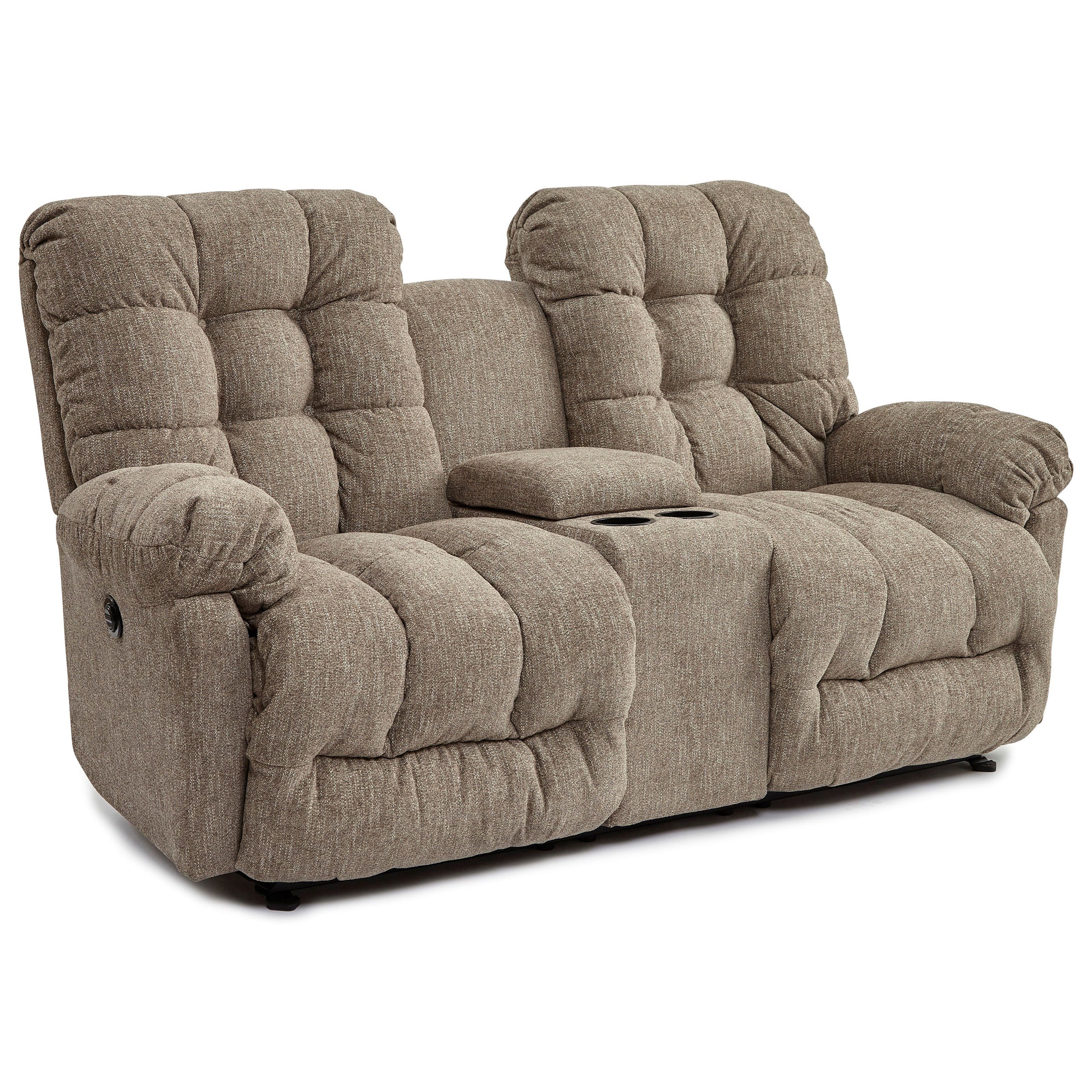 Everlasting Rocking Reclining Love w/ Console by Best Home Furnishings at Baer's Furniture