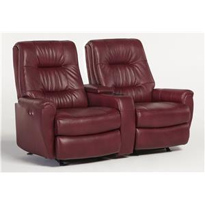 Best Home Furnishings Felicia  Power Rocking Reclining Loveseat w/ Cnsl