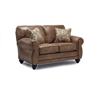 Traditional 2-Seat Stationary Loveseat