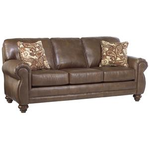 Traditional 3-Seat Stationary Sofa