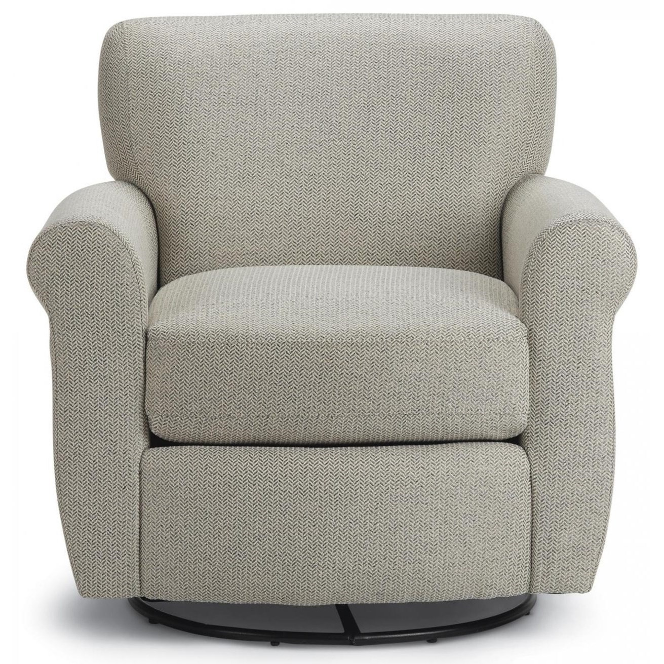 Gemily Swivel Glider Chair by Best Home Furnishings at Dunk & Bright Furniture