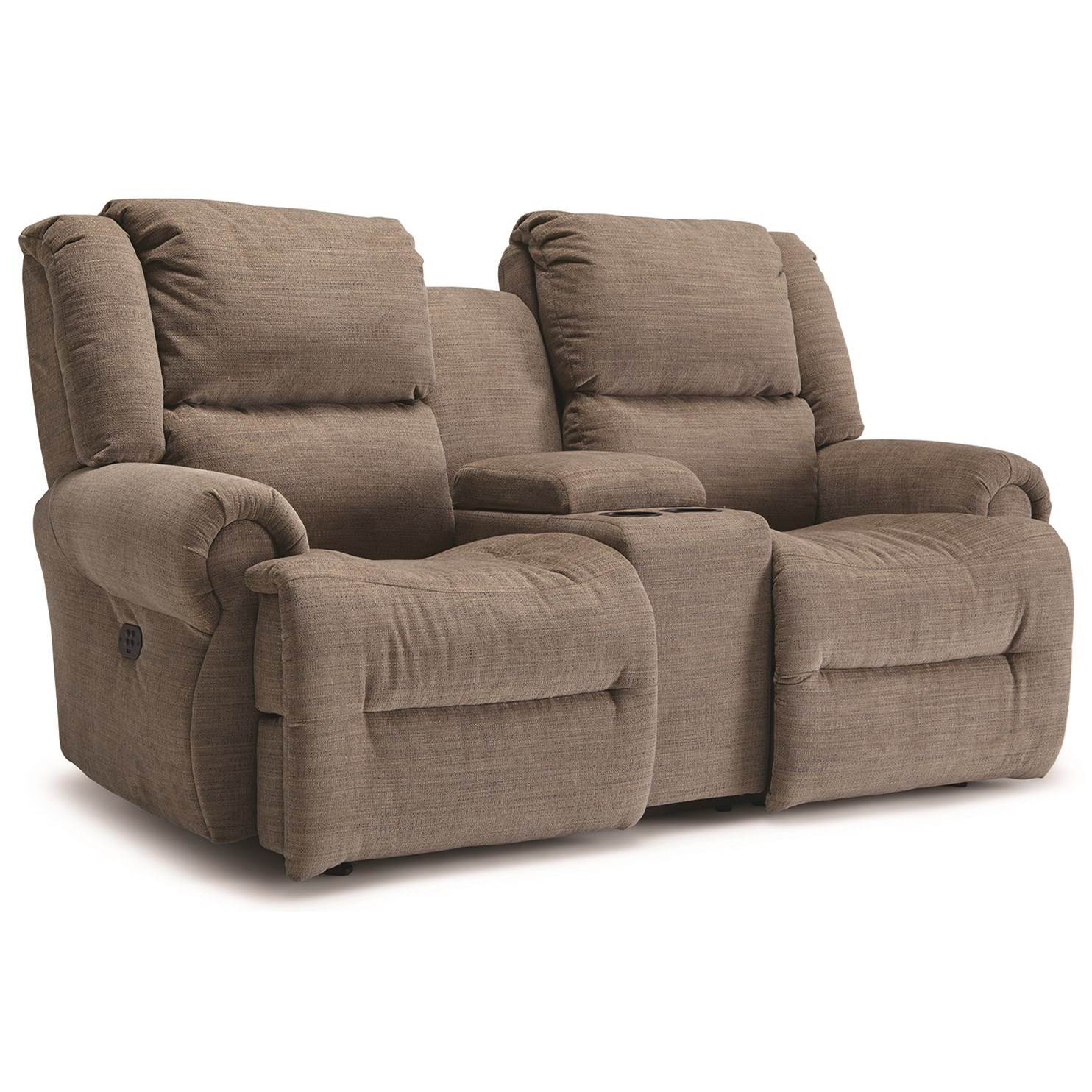 Genet Reclining Space Saver Console Loveseat by Best Home Furnishings at Wilcox Furniture