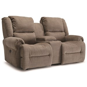 Power Space Saver Reclining Loveseat with Cupholder Storage Console and USB Charging Ports